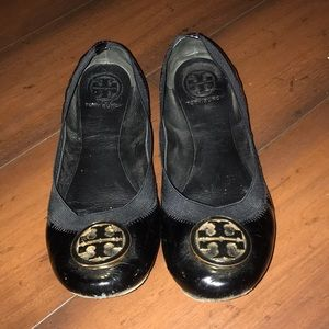 Patent Leather black Tory Burch  ballet Flats